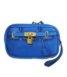 Scarlet Poop Bag Wristlet - Cobalt