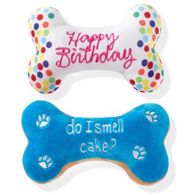 Birthday Bone Cookies Dog Toy