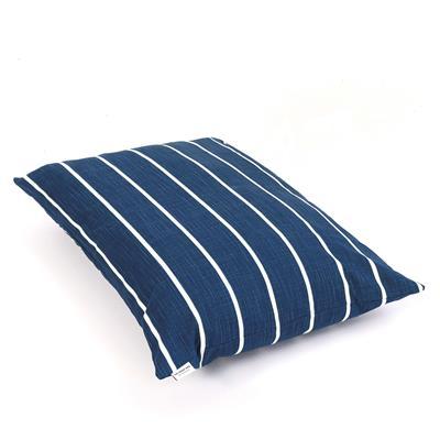 Modern Stripe Navy Dog Bed
