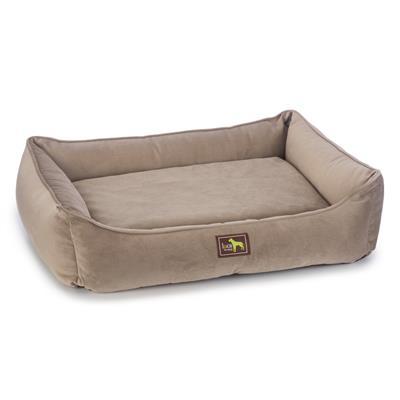 Sandstone Microsuede Velvet Orthopedic Lounge Beds