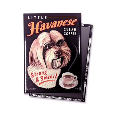 Little Havanese Coffee MAGNETS