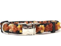 Coco Copper Dog Collar - Silver Metal Buckles