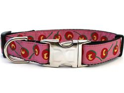 Cherries Collar - Silver Metal Buckles