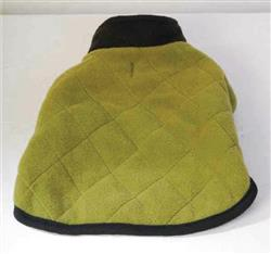 QUILTED FLEECE COAT / OLIVE