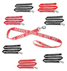 Dogline Reflective Black Nylon Leash