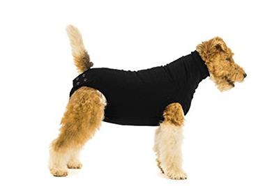 Suitical Recovery Suit for Dog- Post-Surgical Recovery Black