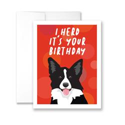 I HERD It's Your Birthday - Pack of 6 cards
