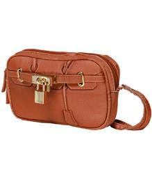 Scarlet Poop Bag Wristlet - Pecan