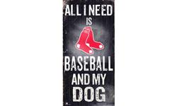 Boston Red Sox Baseball and My Dog Sign