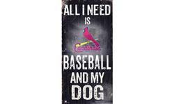 St Louis Cardinals Baseball and My Dog Sign
