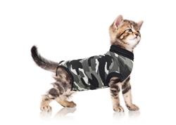 Suitical Recovery Suit for Cats- Post-Surgical Recovery suit- Black