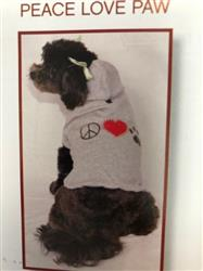 "HOODED SWEATSHIRT ""PEACE LOVE PAW"""