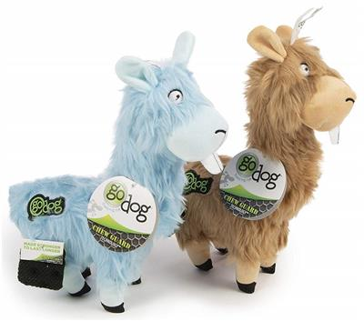 GoDog Furryz - Goofy Llamas with Chew Guard Technology 2 Pack