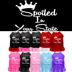 """Spoiled in """"YOUR CITY / STATE"""" Custom Souvenir Pet Dresses"""