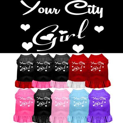 """YOUR CITY / STATE"" Custom Girl Souvenir Pet Dresses"