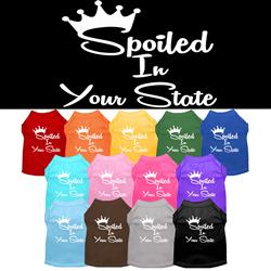 "Spoiled in ""YOUR CITY / STATE"" Custom Souvenir Pet Shirts"