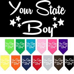 """YOUR CITY / STATE"" Boy Custom Souvenir Pet Bandanas"