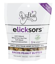 elicksors Bacon Peanut Butter 5mg CBD per Chew