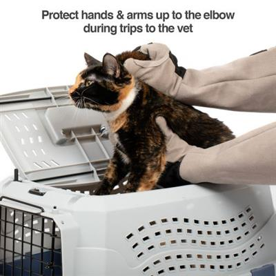Multipurpose Pet Glove for Grooming, Trips to Vet, Handling. [Puncture & Scratch Resistant, Water Resistant]
