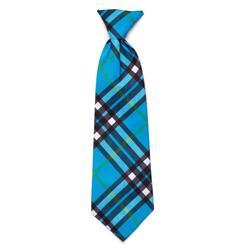 Bias Plaid Blue Neck Tie