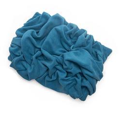 Blue Solid Fleece Fabric Blanket Pet Bed
