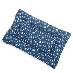 Blue Paw Cotton Fabric Flat Pet Bed