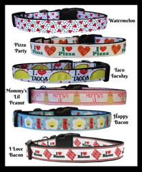 Food Collection Nylon Pet Collars and Leashes