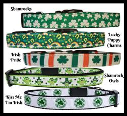 St. Patty's Nylon Pet Collars and Leashes