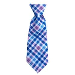 Purple Check Long Tie by Huxley & Kent