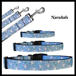 Narwhals Nylon Pet Collars and Leashes