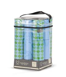Light Blue/ Green Diamond 16 Roll Packs of Designer Fashion Waste Bag Refills