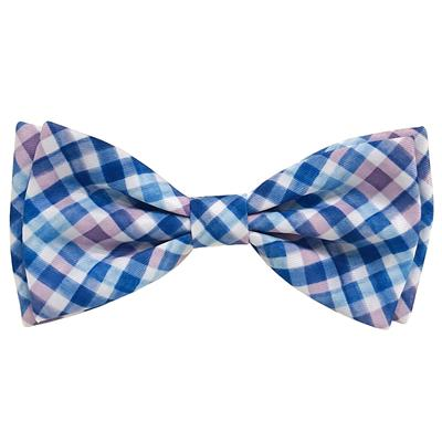 Purple Check Bow Tie by Huxley & Kent