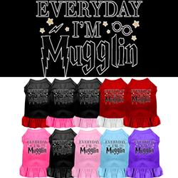 Everyday I'm Mugglin Screen Print Dress