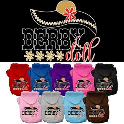 Derby Doll Screen Print Pet Hoodies