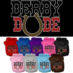 Derby Dude Screen Print Pet Hoodies