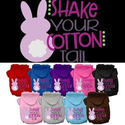 Cottontail Screen Print Pet Hoodies