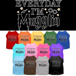 Everyday I'm Mugglin Screen Print Dog Shirt