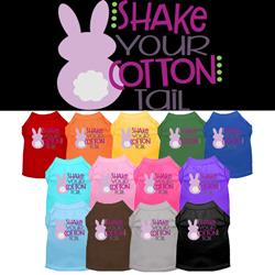 Cottontail Screen Print Dog Shirt