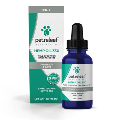 100 MG CBD Hemp Oil (for small dogs & cats) by Pet Releaf