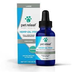 Pet Releaf - 500 MG CBD Hemp Oil (for medium to large breed dogs)