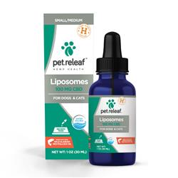 100 MG Active CBD Liposome Hemp Oil (for small to medium sized dogs and cats) by Pet Releaf