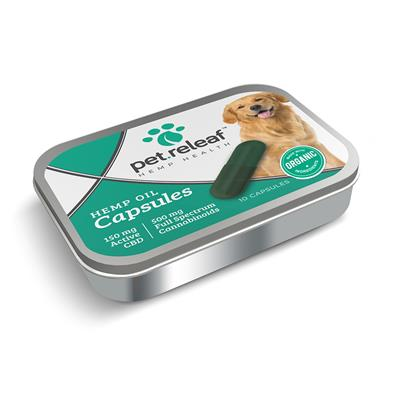 Hemp Oil Capsules (10 capsules for large breed dogs) by Pet Releaf