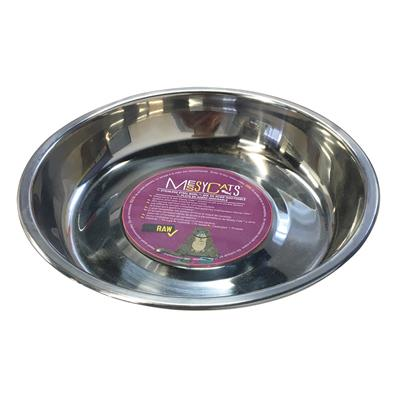 Stainless Saucer Shaped Bowl by Messy Mutts
