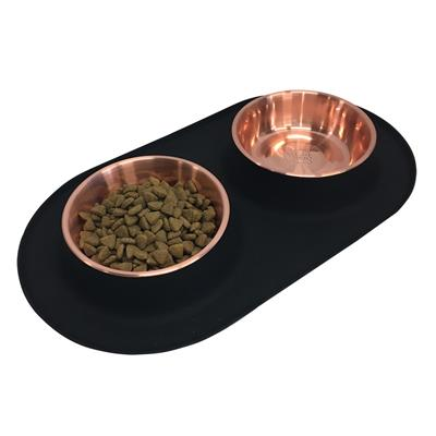 Copper Silicone Double Feeder by Messy Mutts