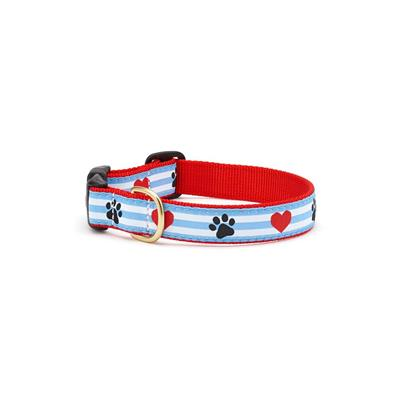 Paw Print Stripe Collars and Leashes by Up Country