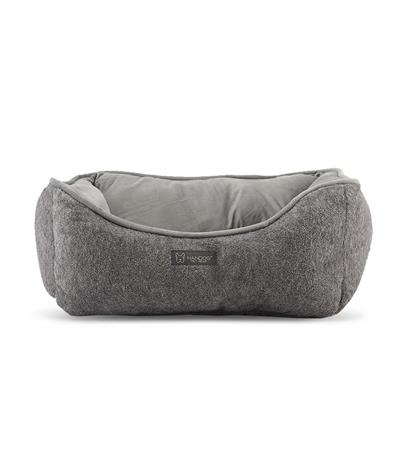 NANDOG MICRO PLUSH REVERSIBLE GRAY FAUX CASHMERE - 25 X 21IN