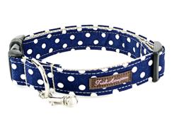 Navy/White Polka Dots