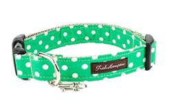 Kelly Green/White Polka Dots