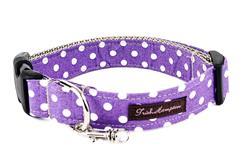 Purple/White Polka Dots