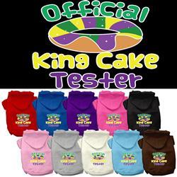 King Cake Taster Screen Print Pet Hoodies